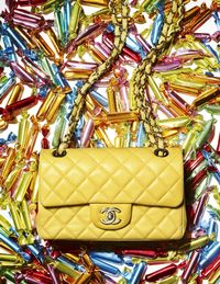 How else to describe a handbag that comes with its own candy filling? Chanel classic Antibes bag ($1,900).