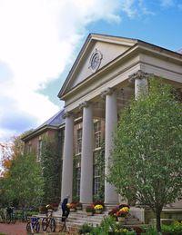 The Main School Building at Deerfield Academy in Deerfield, Massachusetts.
