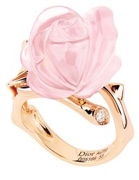 Pink Quartz Rose Ring from Christian Dior.