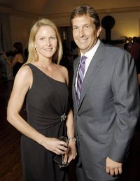 Goodman and his girlfriend, Heather Colby, in happier days.