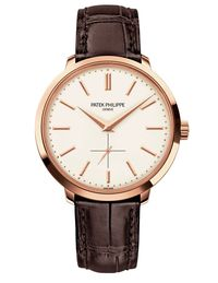 To update tradition, Patek Philippe tweaks its iconic Calatrava ($26,800&#x3B; Tiffany & Co., 212-755-8000), taking inspiration from its late-'50s line.