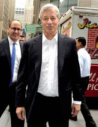 "Titan of finance Jamie Dimon doesn't skimp when it comes to security. Dimon, the CEO of JPMorgan Chase, called the scandal that engulfed his bank in 2011 ""a tempest in a teapot."" He later faced down protesters shouting, ""This man is a crook!"" from behind a wall of security guards."