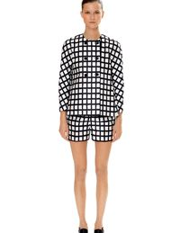 This season offered a checkered suit from Michael Kors.