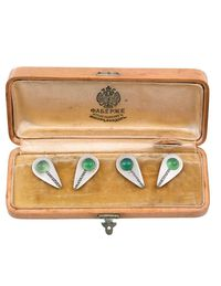 Fabergé chrysoprase cuff links from Wartski.
