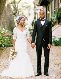 The newlyweds share a few moments together in historic downtown Savannah.