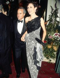 Carolyne Roehm with her then-husband Henry Kravis.