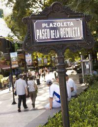 The promenade in tony Recoleta.
