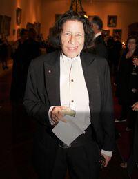 <p>Fran Lebowitz during cocktails.</p>
