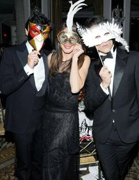 Instead of paper faces on parade, the Save Venice Masquerade Ball brought out Lanvin-clad pretty young things hiding behind all sorts of elaborate masks—Michelle Harper came with a butterfly delicately fixed atop her head and stylist Kelly Framel moved across the Pierre's dance floor with cat-like grace in a lion mask. There were plenty of elaborately dressed attendees at the event, a black-and-white-themed Ballo in Maschera sponsored by Ferrari, Harry Winston, and Lanvin to support restoration of Venetian art and architecture. Some of them mingled freely as the jazz pianist Elew performed&#x3B; others, who were in fact Lanvin mannequins dressed in the latest collection, maintained their composure no matter what music played.