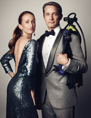 Cousteau Fabien And Celine Cousteau