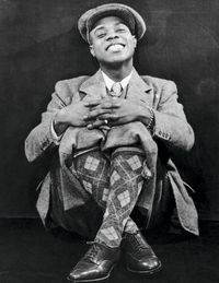 Louis Armstrong's patterned socks.