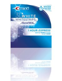 While you're putting on your makeup or doing your hair, leave in Crest's new 3D White Whitestrips 1 Hour Express to brighten teeth.$54.99&#x3B; 3Dwhite.com