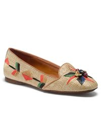 I only travel in flats (despite being a high-heel-aholic every other day of the year), and this bright straw pair are the perfect shoes to get excited for a warm weather vacation.toryburch.com