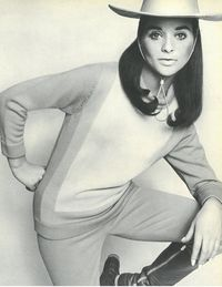 """In Town & Country February 1967, we tell readers how to wear """"the cools,"""" as in a """"cool way to dress for a city-country life."""" Here, we shop out model Olivia Robinet's casual combo, perfect for an easy holiday look."""