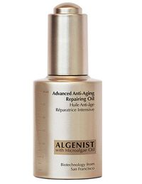 Nourishing microalgae oil and ceramides (natural lipids in the skin) pack a one-two punch against signs of aging by increasing cell repair and improving skin's ability to seal in moisture. For best results, layer it over your wrinkle-fighting retinol treatment to calm irritation. Algenist Advanced Anti-Aging Repair Oil, $79.