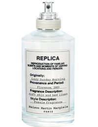 """Part of the second collection of Margiela's """"Replica"""" fragrances, which aim to reproduce a specific time and place, this eau contains hints of pear, iris, and white musk to depict a lazy sunday in Florence in 2003.sephora.com"""