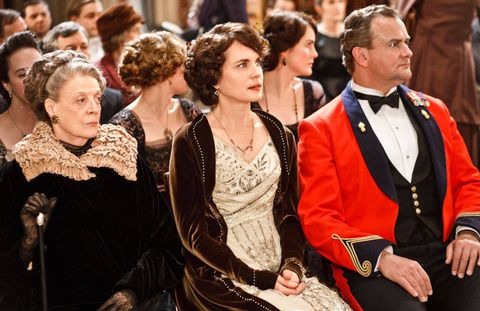 From left: Dame Maggie Smith, Elizabeth McGovern, and Hugh Bonneville.