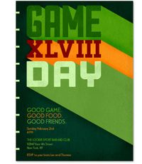 """Game Day,"" $4 for 25 people&#x3B; postmark.com"
