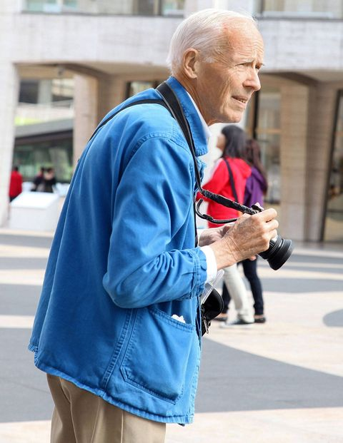 Bill Cunningham at work.