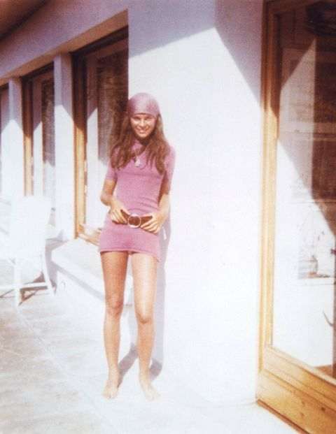 A young Carine on vacation in Brittany.
