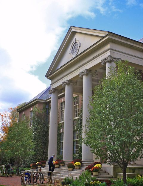 The Main School Building at Deerfield Academy in Deerfield, Massachusetts.