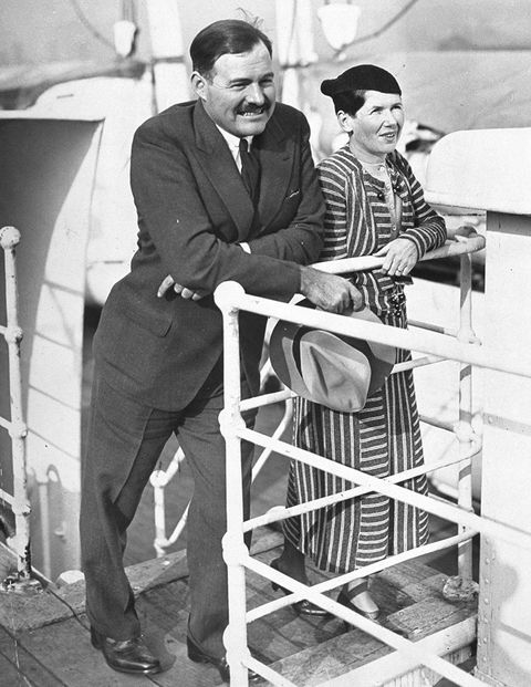 Hemingway and his second wife, Pauline, arrive in New York aboard the SS Paries on April 3, 1934&#x3B; the ensuing newspaper coverage would inspire Whitney to contact the writer.