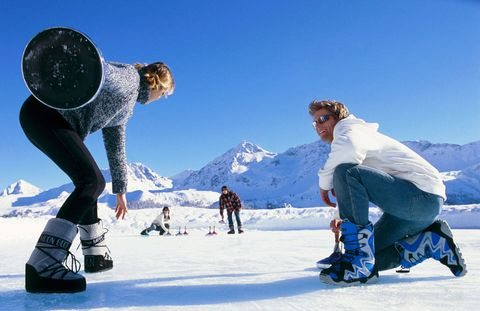 <p>A bonspiel in Graubünden Canton, Switzerland.</p>