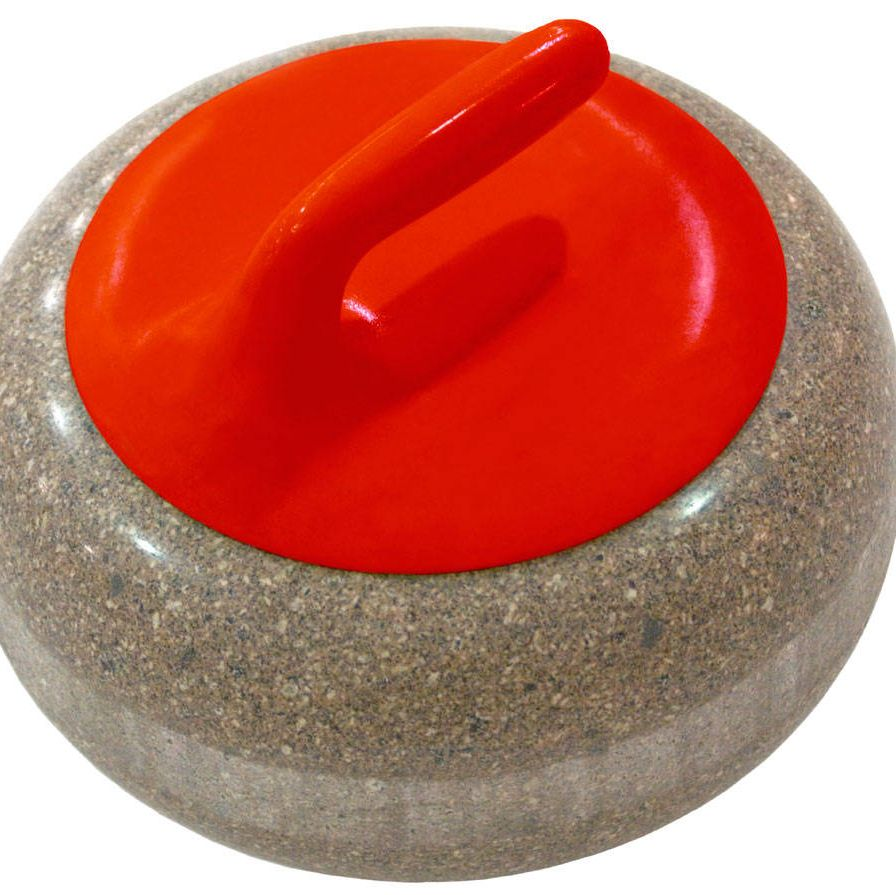 A typical curling rock.