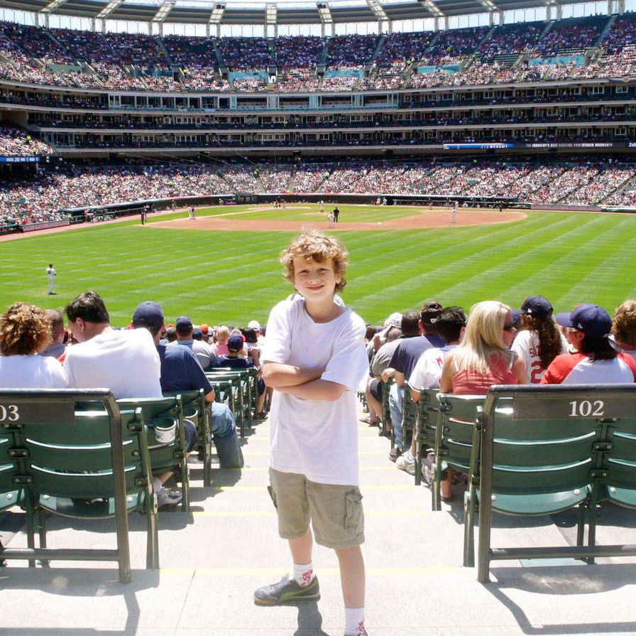 Eamon Hauser at Cleveland's Progressive Field.