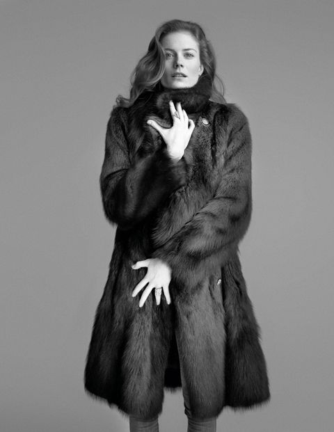 Everyone needs to find her own shelter from the storm. Gucci fur ($33,000); Sylva & Cie rings ($24,750 and $57,500).