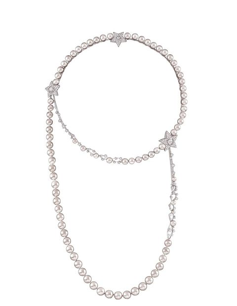 Though Coco Chanel famously wore loads of costume pearls, she'd certainly appreciate the luster of the real thing in this necklace ($169,700 at Chanel Fine Jewelry boutiques, 800-550-0005).