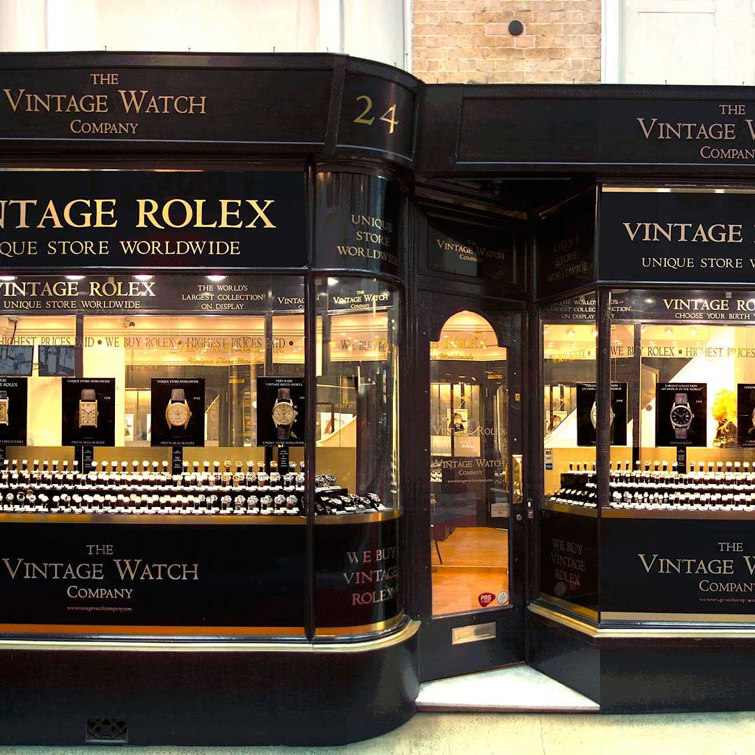 The Vintage Watch Company, in Burlington Arcade, claims the largest collection of Rolexes on display anywhere in the world. Inventory includes a circa 1910 Hunter (originally designed with a closing lid to protect the dial, should the owner fall off a horse), women's evening watches from the 1920s, and early 1950s Submariners. Rolex was founded in 1905 but didn't begin exporting to the U.S. until the 1940s, so anything before that is a rare find — and there are pieces going back to 1910 here. 24 Burlington Arcade, vintagewatchcompany.com