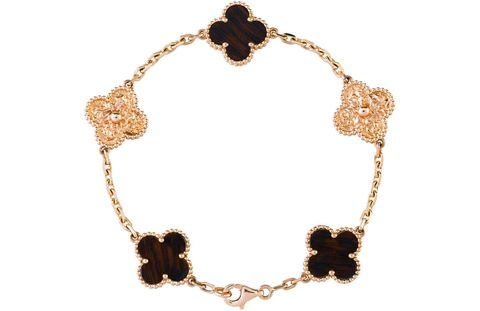 Van Cleef & Arpels bracelet ($4,600), 877-VAN-CLEEF.