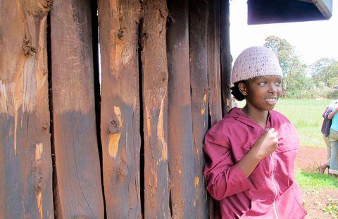 A girl at Cura Orphanage.
