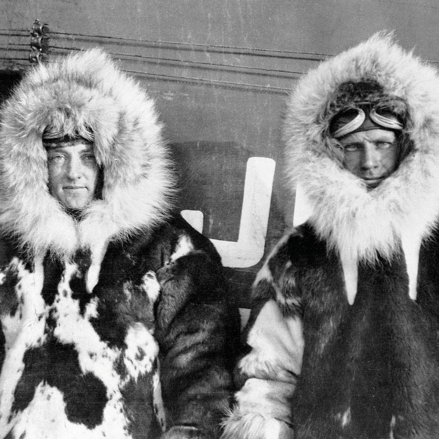 Polar explorers Admiral Richard Byrd and Floyd Bennett.