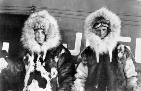 Polar explorers Admiral Richard Byrd and Floyd Bennett.