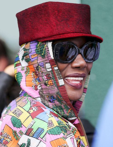 Grace Jones was one of many celebrities watching the court action.