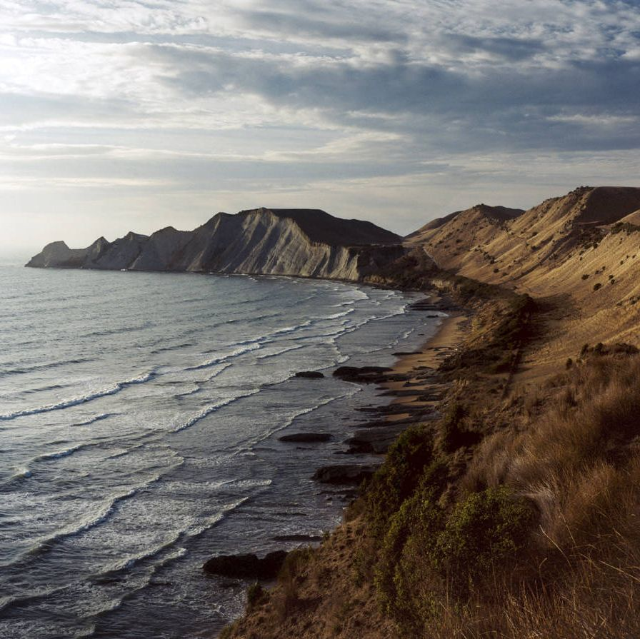 The cliffs at Cape Kidnappers, above the South Pacific.