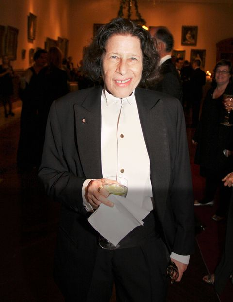 <p>Fran Lebowitz during cocktails.</p>