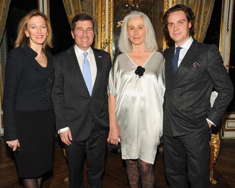 Susan Tolson, US Ambassador Charles Rivkin, Jade Hobson, and Jay Fielden.