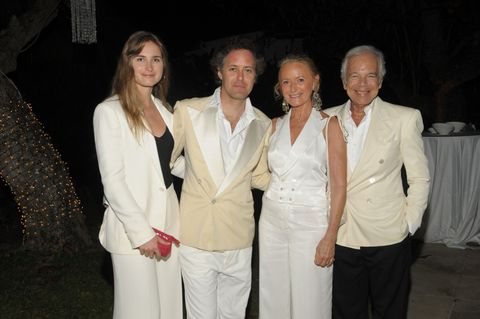 Lauren Bush Lauren, David Lauren, Ricky Lauren, and Ralph Lauren.