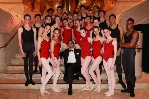 New York City Ballet apprentice and choreographer Silas Farley and the students of The School of American Ballet.