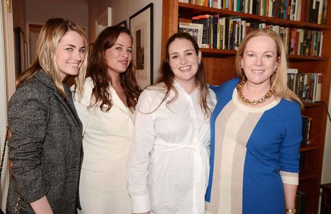 Last Wednesday night, Jade Jagger, daughter of Mick and Bianca, fulfilled her destiny -- as the child of a Stone and a namesake of a semi-precious stone herself -- when she debuted her eponymous jewelry collection at the home of Anne Hearst McInerney and Jay McInerney (featured in a recent issue of Architectural Digest). The collection seemed to have a little of everything, from cufflinks and lariats to bangles and rings. It was the perfect spring evening to do some shopping--and spend some quality family time with my aunt, in her new skull collection necklace ,and cousin Amanda.