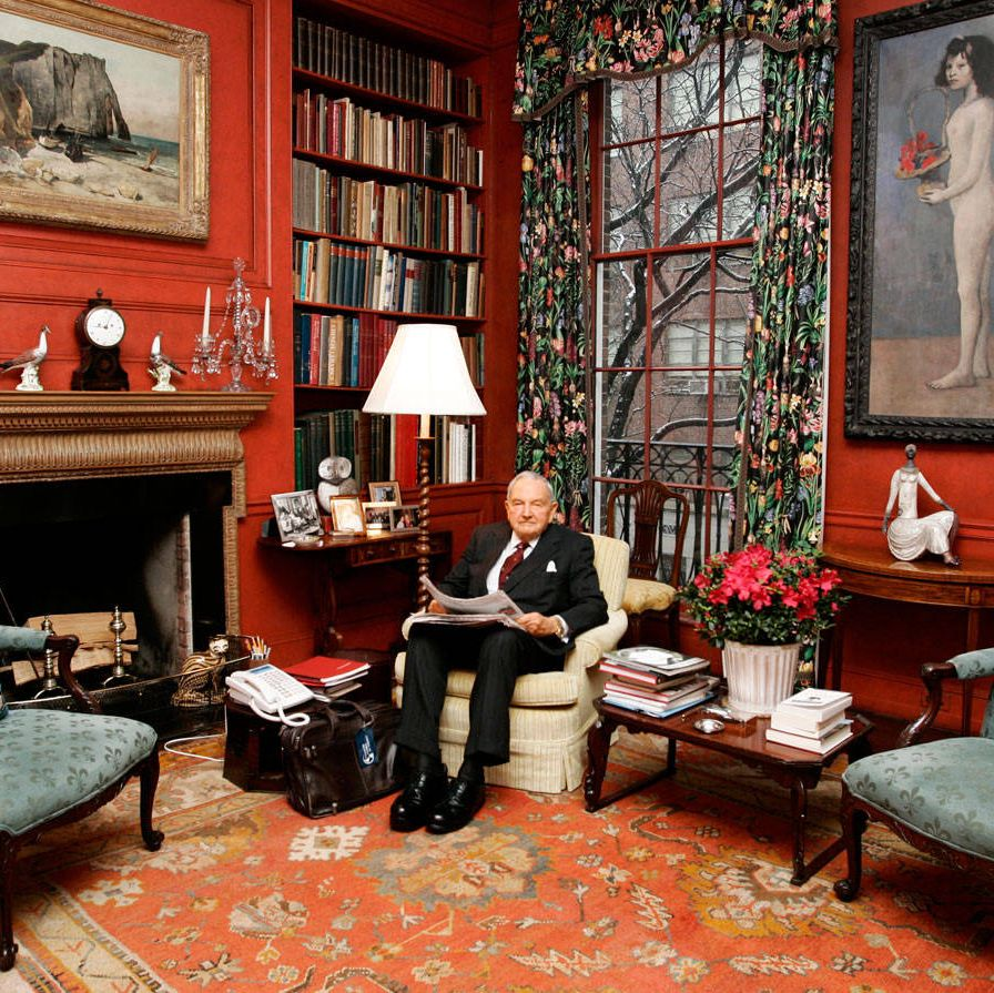 David Rockefeller Sr., the 97-year-old patriarch of a clan that traces its family fortune to his grandfather John D. Sr. (1839–1937), the founder of Standard Oil, grew up at an address that eventually became part of the Museum of Modern Art. That's not a coincidence&#x3B; his mother Abby Aldrich was a pioneering benefactor of the museum. Philanthropy is a family tradition: David's grandfather helped found Rockefeller University and the University of Chicago. One of the oldest philanthropies in the country (it turns 100 this year), the Rockefeller Foundation, with $3.5 billion in assets, is behind any number of good works, such as the Green Revolution, with its push to feed the hungry worldwide. David Jr. heads the foundation's board, continuing the family's philanthropy into the younger generations.David Rockefeller Sr., at home with his art collection in New York City, 2006.