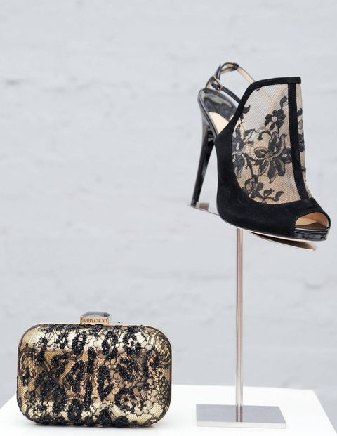 Jimmy Choo shoe and bag.
