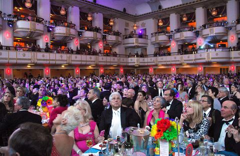 The crowd fills the Waldorf-Astoria ballroom.