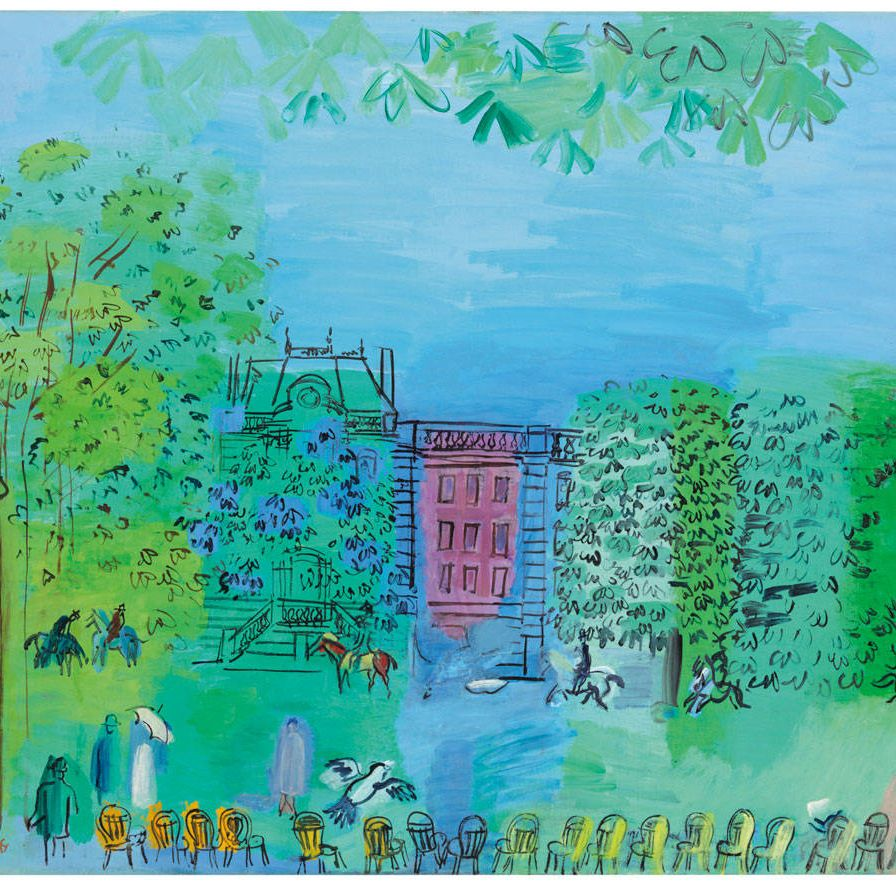 The spring sales are full of Fauves, a reunion that highlights the amazing decorative gifts of a class that included modernist luminaries like Matisse and Braque. Raoul Dufy is not usually included in the top ranks of the alums, but such playground games don't seem to have mattered to Dufy, who happily made scarves for Charvet and wallpaper for Atelier Martine. Dufy is a signature member of the gang—he showed in the Salon d'Automne in 1907 at the peak of movement—but by 1928, when he painted this charming scene of the Bois de Boulogne, there was very little of the wild beast in his bright palette of mellow rose and shimmery blues and spring greens.Christie's Impressionist and Modern Art, Day Sale, May 9.Lot 258&#x3B; $300,000-$500,000.