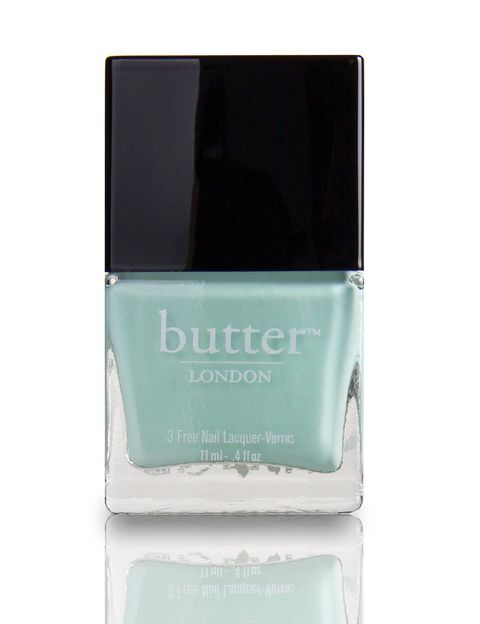 "<p>Fiver is a sweet relative of the turquoise shades that have been so popular the past few years. On nails, the pale blue-green hue looks a bit like mint chip ice cream, minus the chocolate.</p>   <p><em>$15, <a href=""http://www.butterlondon.com/fiver-nail-lacquer"" target=""_blank"">butterlondon.com</a></em></p>"