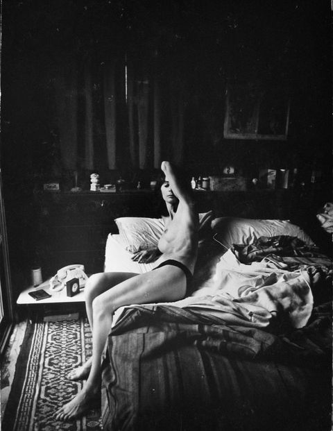 Beverly Renee on Bed, 1961