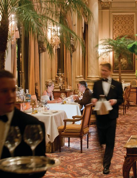 "Forty years ago, this was a common scenario at the world's most refined restaurants: A couple goes out to dinner, and the waiter gives the man, presumed host and breadwinner, a menu with prices, while the woman gets one without. The tradition of menus without prices, also called blind or guest menus, persists today, but more as a quirky vestige of a bygone era—restaurants have had to adapt to modern social mores without making presumptions that offend the customer. Here, we have compiled a short list of some of the best restaurants around the world that continue to offer blind menus—much to the delight, surprise, and confusion of their customers.This Parisian standby preserves a longstanding practice of offering menus without prices. ""This is an old tradition in France in elegant gastronomic restaurants,"" Caroline Mennetrier, senior director of public relations for the hotel, says. The restaurant has even watched the menus play a part in marriage proposals, as nervous fiancés-to-be sweat through elaborate meals, including pink champagne, caviar, and truffles, ordered off the priceless menu by unsuspecting girlfriends."